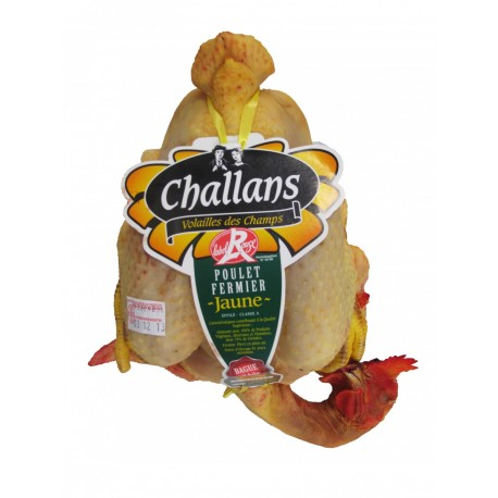 Poulet fermier jaune de Challans effilé Label Rouge